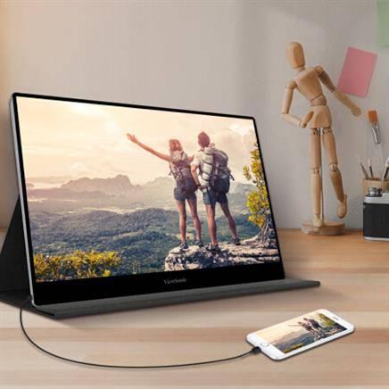 新品发售: ViewSonic 优派 TD1601-4K 15.6英寸4K触摸便携式显示器