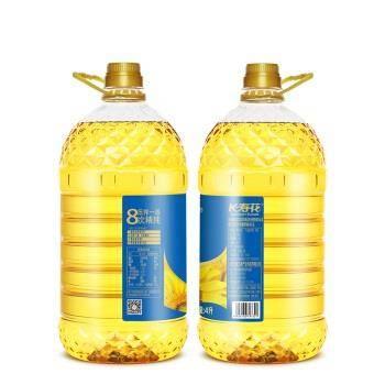 长寿花 食用油 压榨一级葵花籽油 4L*2件 70.9元(折35.45元/件)