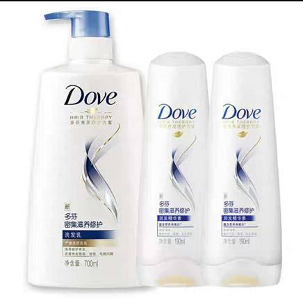 百亿补贴: 多芬 密集滋养 修护洗发乳 700ml+洗发/护法 190ml*2瓶33.9元