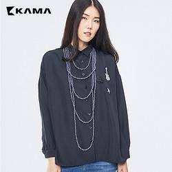 12日0点:KAMA 卡玛 7317856 长袖休闲衬衫 *2件