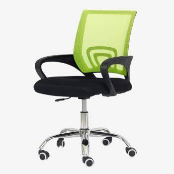 时光向上 电脑椅办公椅黑绿-钢脚