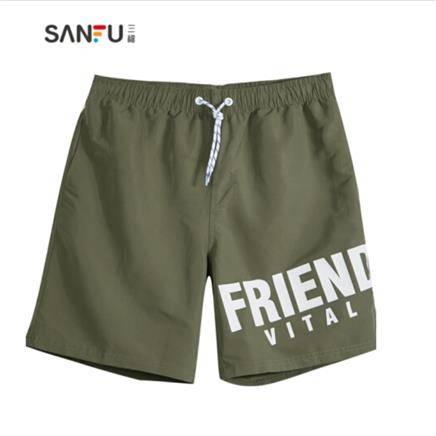 SANFU 三福 424622 男士字母印花短裤