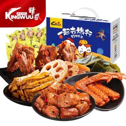 PLUS会员:KINGWUU 精武 一起去旅行鸭货零食大礼包 500g *2件