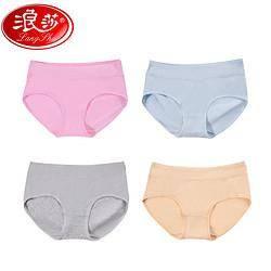 Langsha 浪莎 61082-4 女士内裤 4条装 *2件