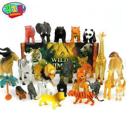 抵现红包:哥士尼 儿童仿真野生动物园模型 24只