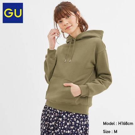 GU 极优 318256 女装连帽套头卫衣