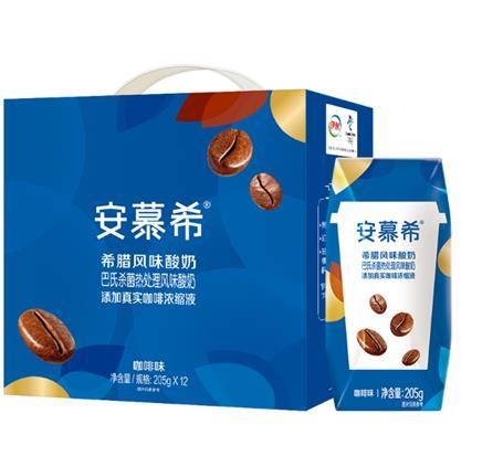 临期品、苏宁会员:伊利 牛奶安慕希酸奶常温奶咖啡味205g*12/提*4件    106.6元(合26.65元/件)