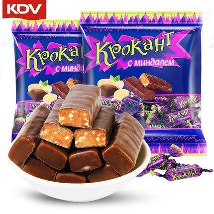 KDV 俄罗斯紫皮糖巧克力糖 500g 约70颗 14.8元包邮(下单立减)