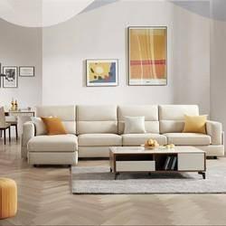 1日0点: KUKa 顾家家居 2068 简约现代科技布沙发 三人位    2999元包邮