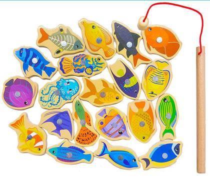 DALA 达拉 儿童钓鱼玩具 20鱼+1杆 袋装5.9元包邮