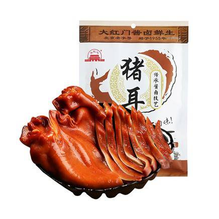 大红门酱卤猪耳250g/袋冷藏熟肉耳丝片朵开袋即食北京老字号特产19.9元