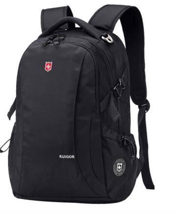 瑞戈 大容量多功能商务双肩包 黑色小号14寸149元