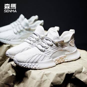 27日 6点:Semir 森马男鞋 运动鞋 白灰色 41129元
