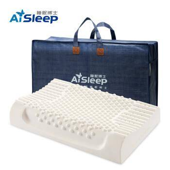 AiSleep 睡眠博士枕头 释压按摩颗粒泰国乳胶枕进口天然乳胶枕 成人睡眠橡胶波浪颈椎枕芯