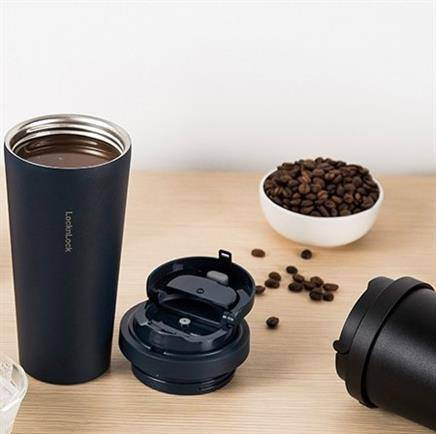 LOCK&LOCK 乐扣乐扣 LHC3249BLK 咖啡杯 550ml 黑色*2103.2元包邮(慢津贴后101.14元,折合50.57元/件)