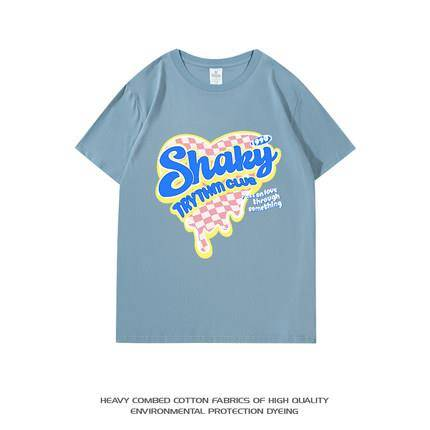 sanduolemen 山岛里美 CX202741 男女款印花T恤 39.9元包邮(合19.95元/件)