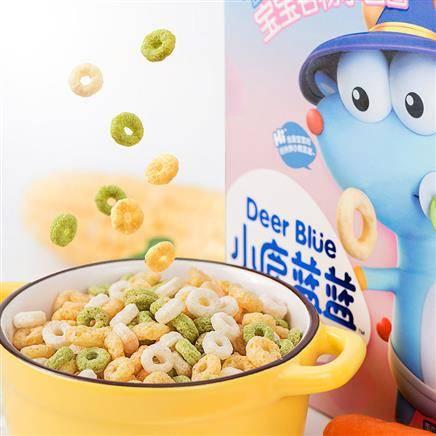 小鹿蓝蓝 宝宝谷物圈 儿童零食辅食 9.9元