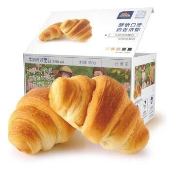 Three Squirrels 三只松鼠 牛奶可颂面包 380g 13.9元