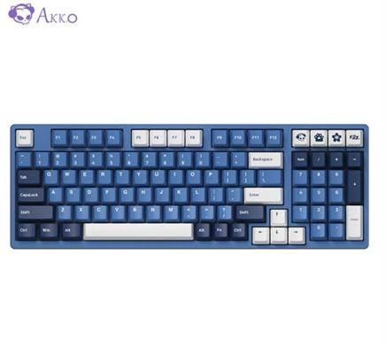 Akko 艾酷 AKKO 3098 DS 海洋之星 机械有线键盘 游戏键盘 98键 AKKO V2蓝轴 244元