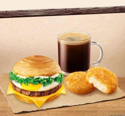 汉堡王 元气早餐3件套  牛肉蛋可颂 单人餐 19.9元