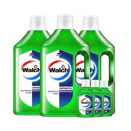 88VIP:Walch 威露士 多用途消毒液 1L*3 送60ml*3 49.4元