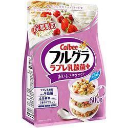plus会员:Calbee 卡乐比 水果麦片 乳酸菌风味 600g*5