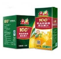 限地区:众果100%纯果汁 黄金柑香橙混合果汁 1L×6盒 29.1元